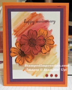 Flower punch and watercoloring make this an easy, yet unique, fall card