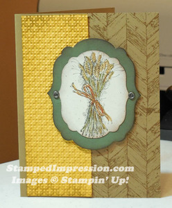 I used texture, ink and Stampin' Dimensionals to add dimension to this fall card design