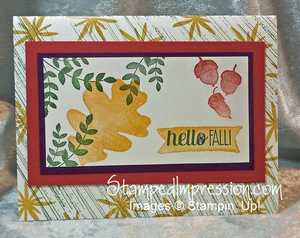 Designing a Card for Fall http://stampedimpression.com