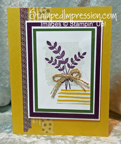 Easy-to-Make Fall Card http://stampedimpression.com