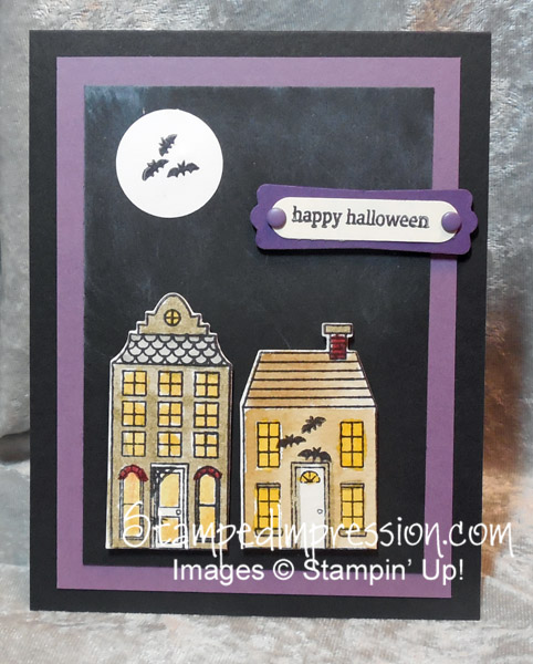 Easy Halloween Card http://stampedimpression.com
