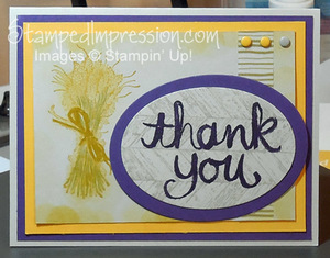 Truly Grateful Thank You Card http://stampedimpression.com