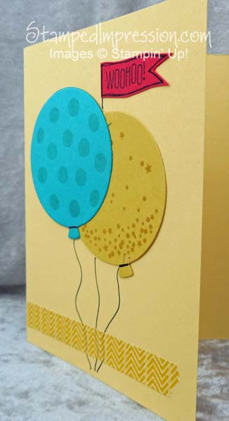 simple birthday card - http://stampedimpression.com