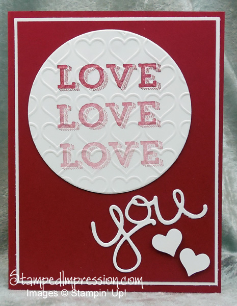 Love in a hand made card - http://stampedimpressio.com