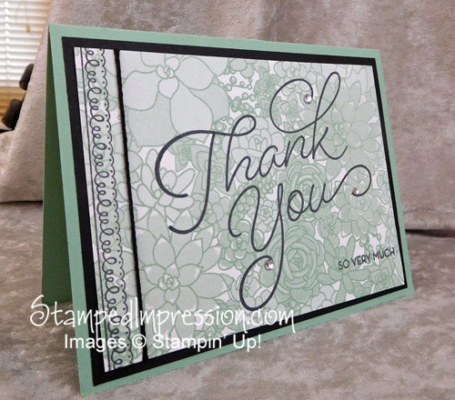 step up thank you card design