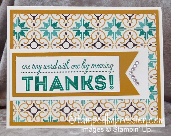one big thank you card design