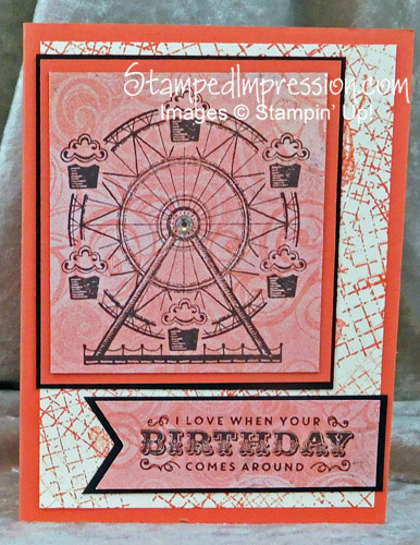 Vintage Carousel Birthday Card