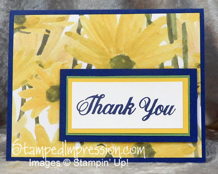 Clean & simple thank you card