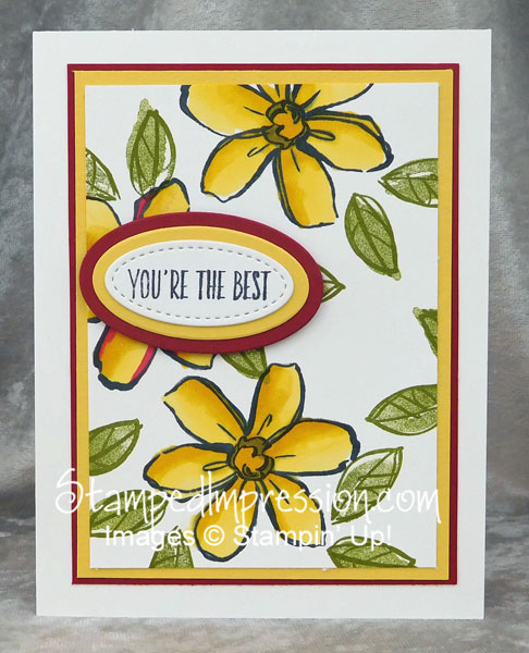 Garden in Bloom, colored with Stampin' Blends